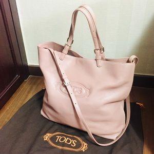 TOD'S   Medium Shopping Tote in Blush Pink